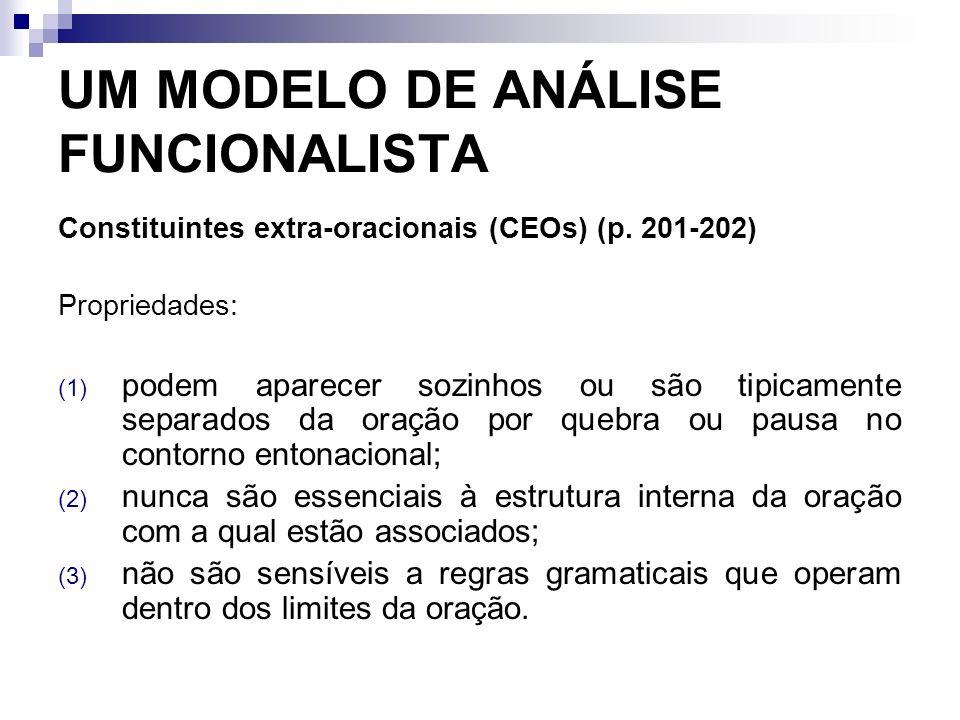UM MODELO DE ANÁLISE FUNCIONALISTA