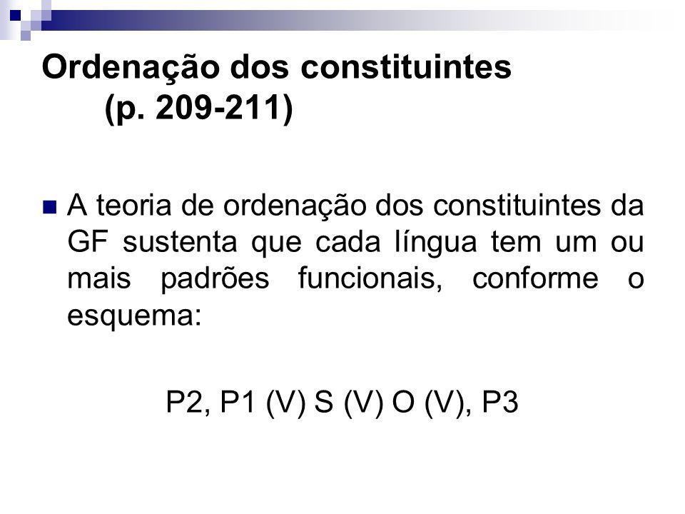 Ordenação dos constituintes (p. 209-211)