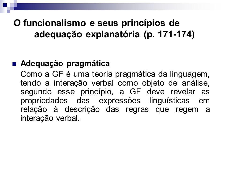 O funcionalismo e seus princípios de adequação explanatória (p
