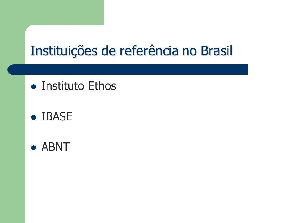 Instituições de referência no Brasil