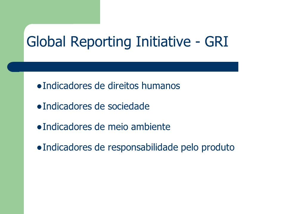 global reporting initiative ppt
