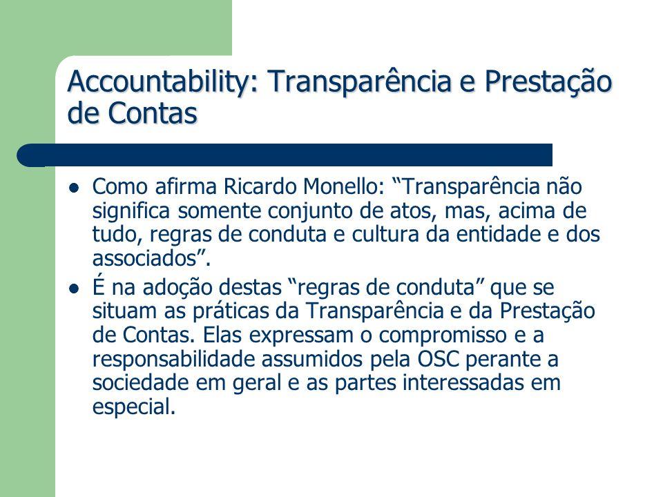 Accountability: Transparência e Prestação de Contas