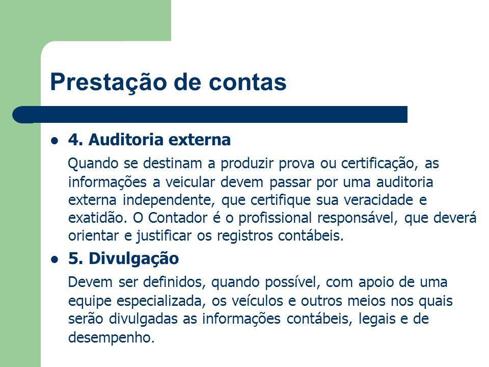 Prestação de contas 4. Auditoria externa