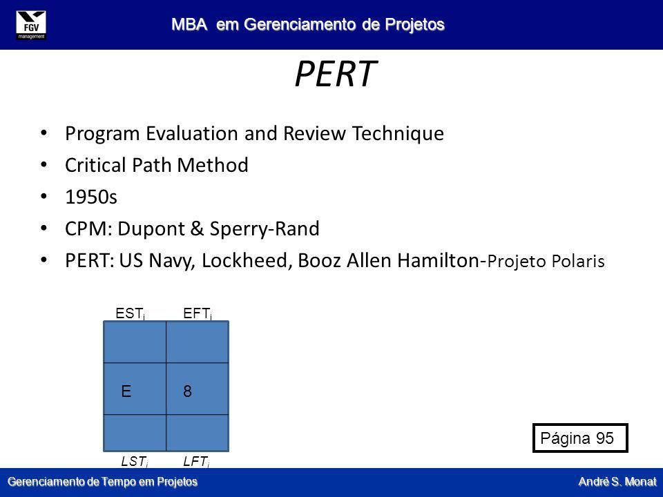 PERT Program Evaluation and Review Technique Critical Path Method