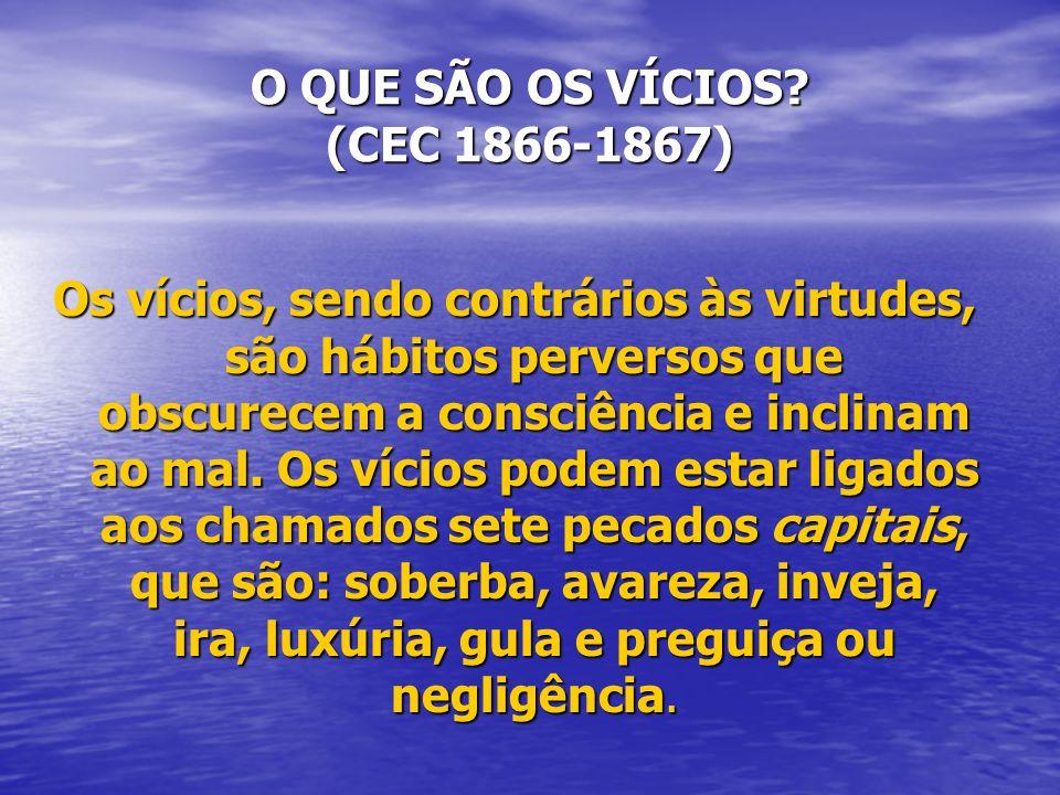 O QUE SÃO OS VÍCIOS (CEC 1866-1867)