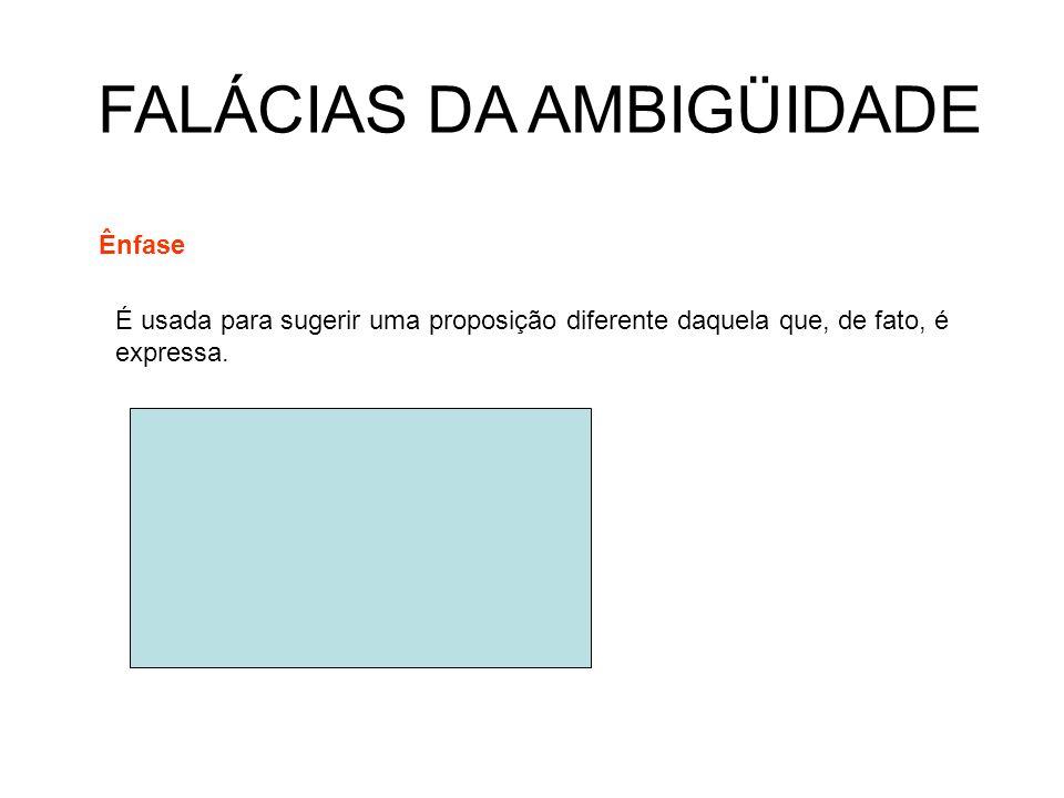 FALÁCIAS DA AMBIGÜIDADE