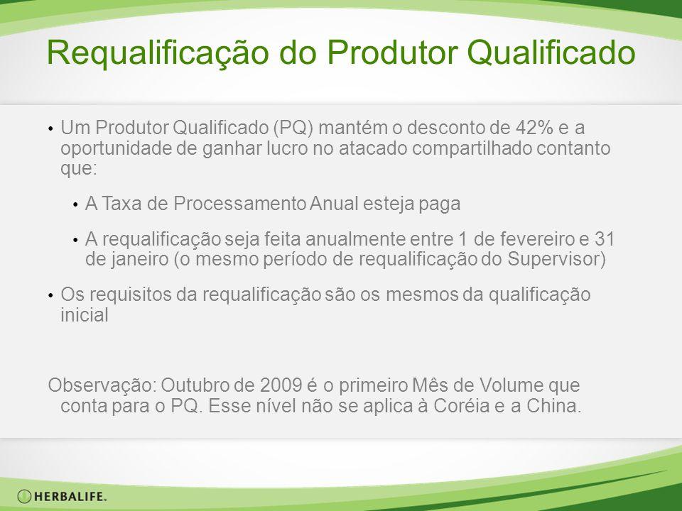 Requalificação do Produtor Qualificado