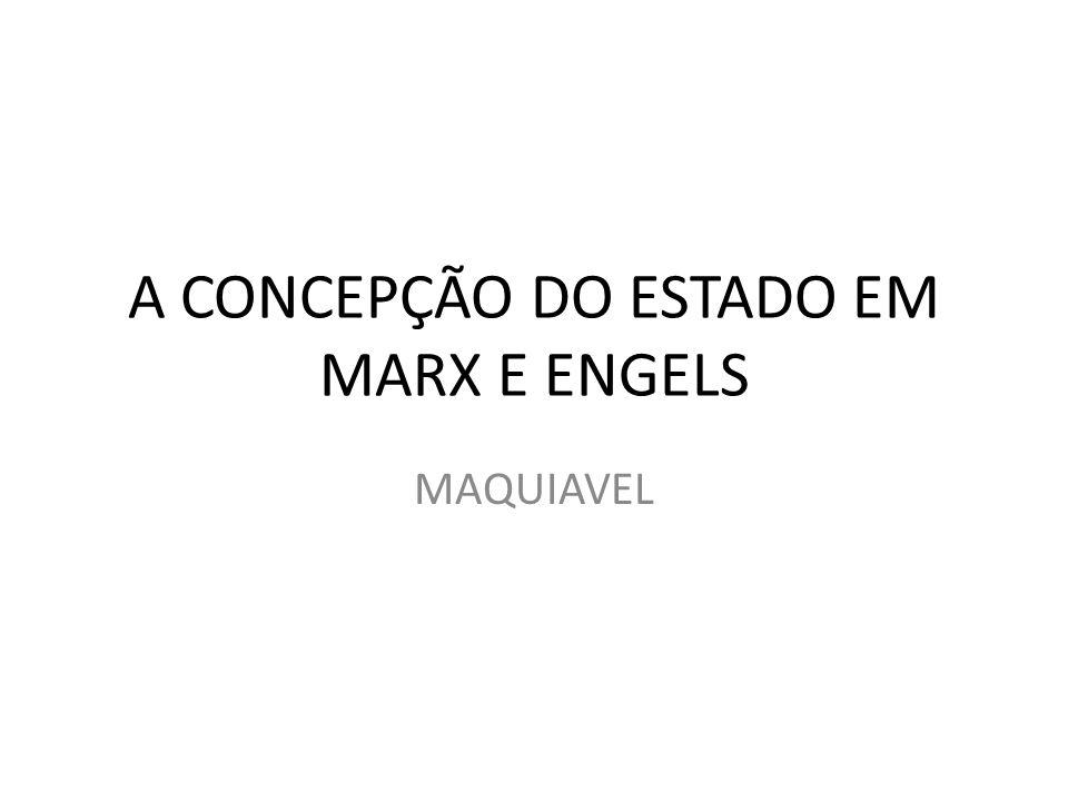 A CONCEPÇÃO DO ESTADO EM MARX E ENGELS