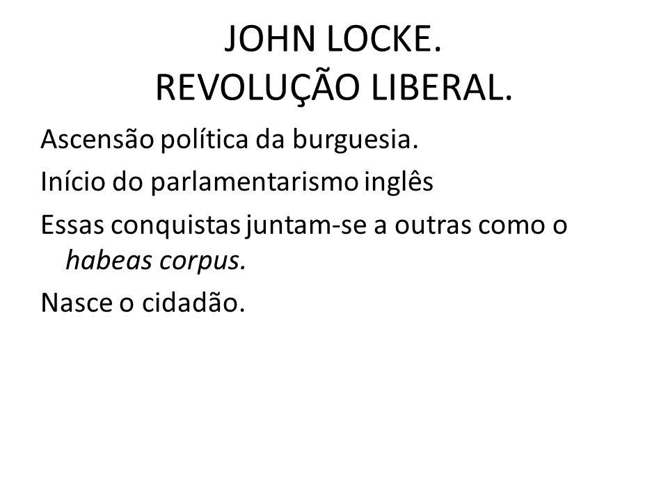 JOHN LOCKE. REVOLUÇÃO LIBERAL.