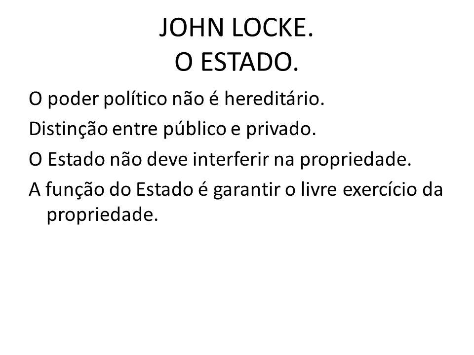 JOHN LOCKE. O ESTADO.