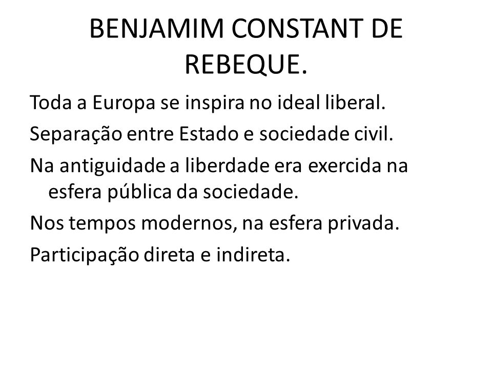 BENJAMIM CONSTANT DE REBEQUE.