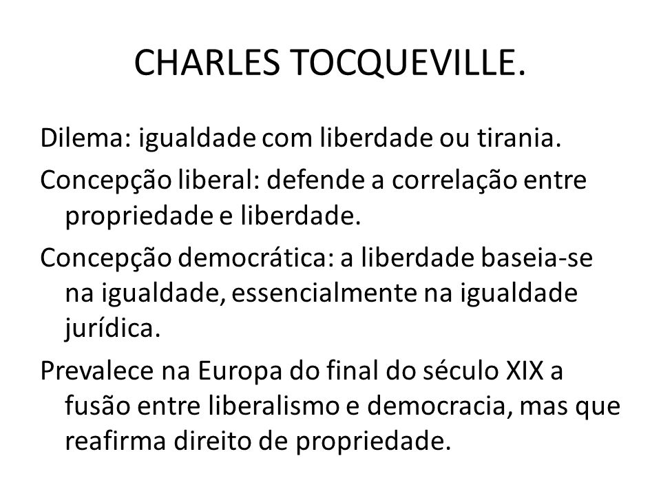 CHARLES TOCQUEVILLE.