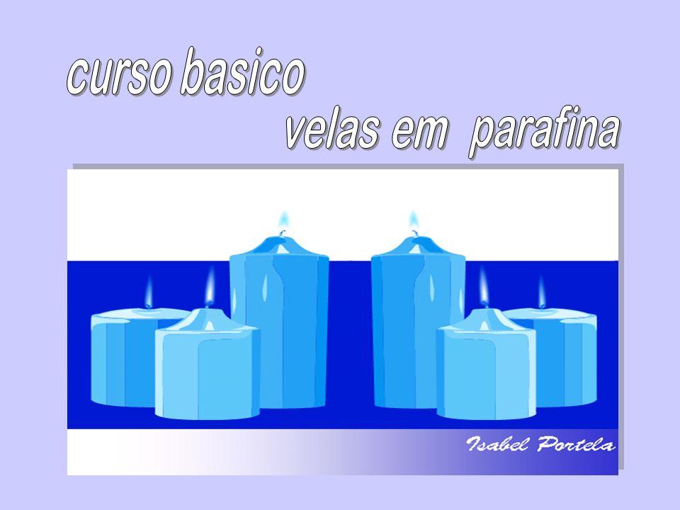 curso basico velas em parafina