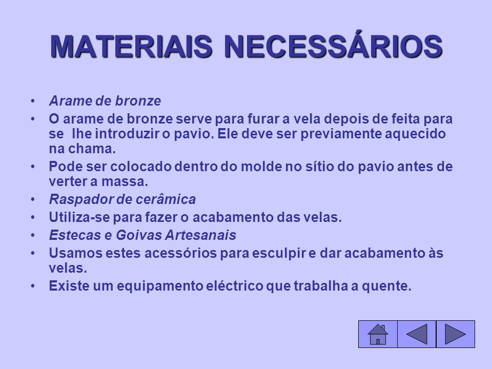 MATERIAIS NECESSÁRIOS