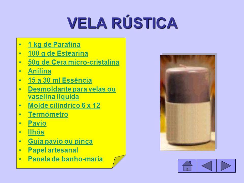 VELA RÚSTICA 1 kg de Parafina 100 g de Estearina
