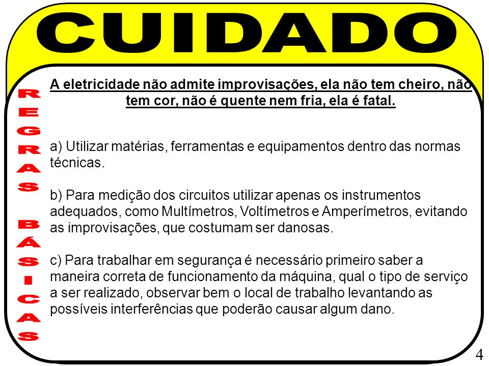 CUIDADO REGRAS BÁSICAS 4