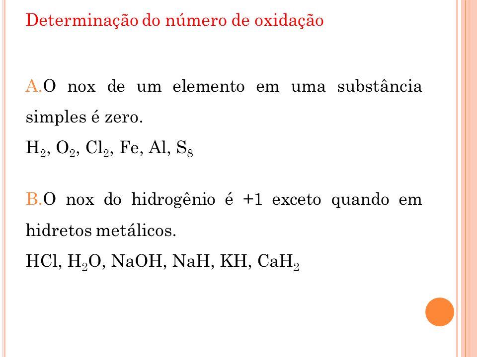 Determinação do número de oxidação