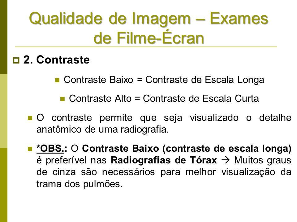 Qualidade de Imagem – Exames de Filme-Écran