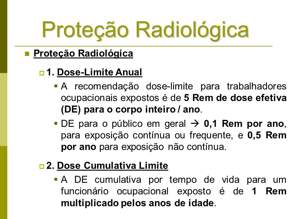 Proteção Radiológica Proteção Radiológica 1. Dose-Limite Anual