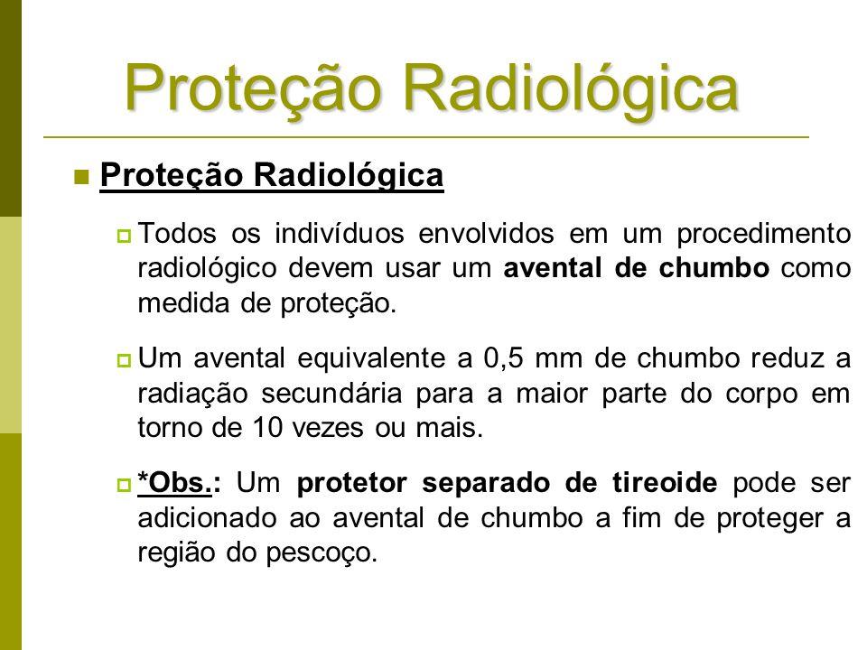 Proteção Radiológica Proteção Radiológica