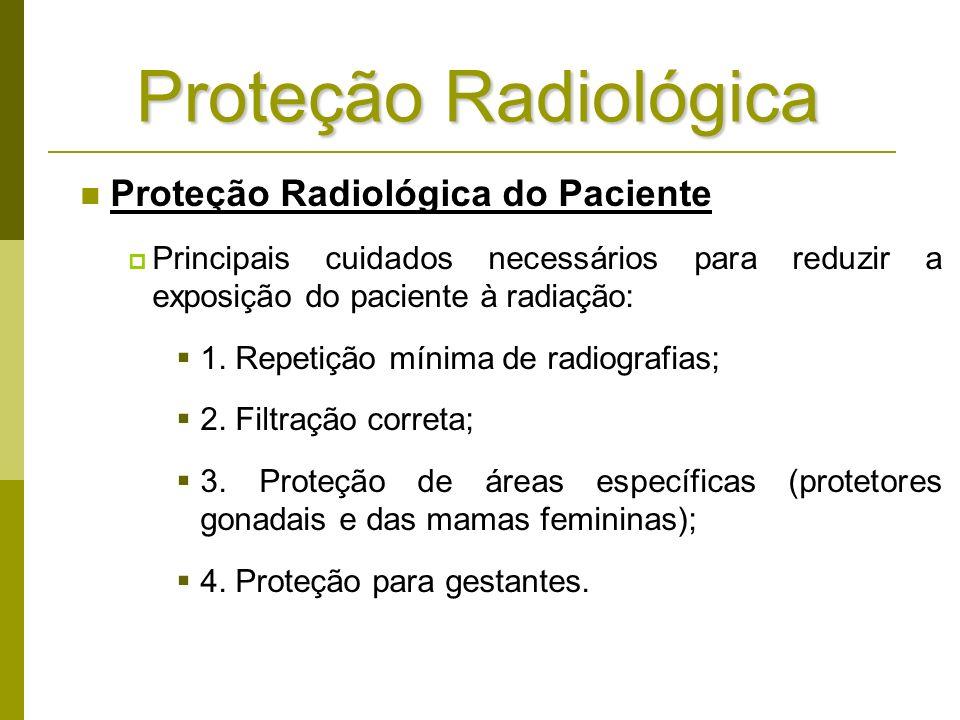 Proteção Radiológica Proteção Radiológica do Paciente