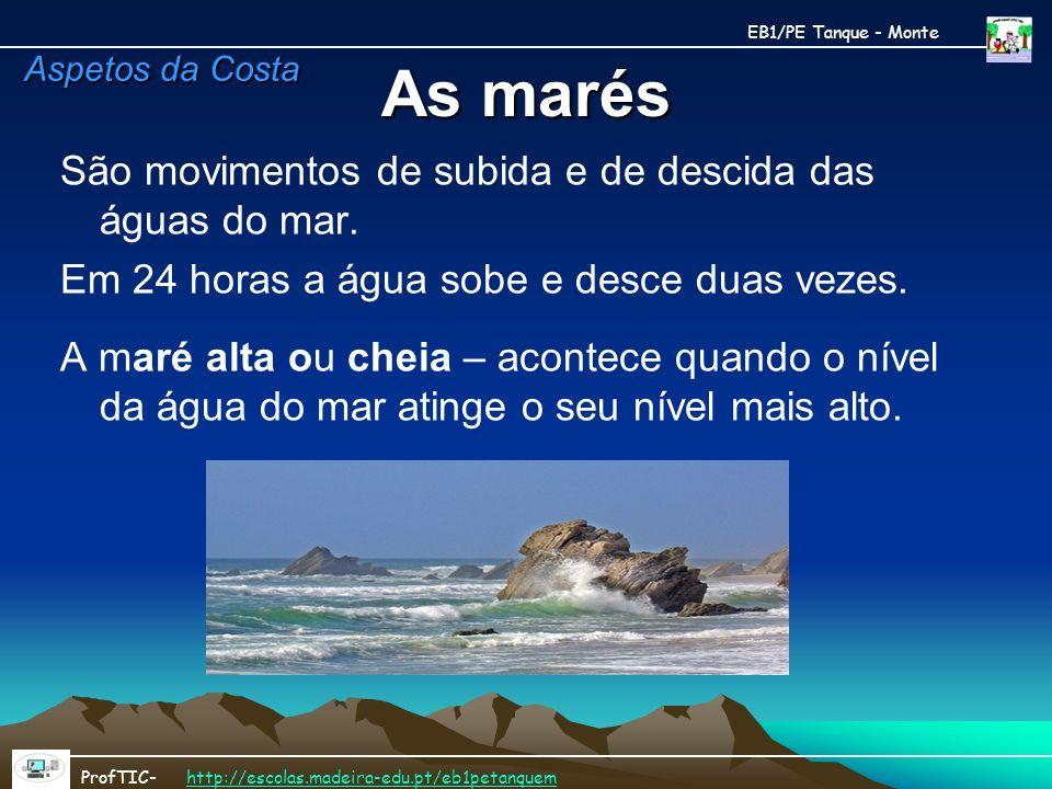 As marés São movimentos de subida e de descida das águas do mar.