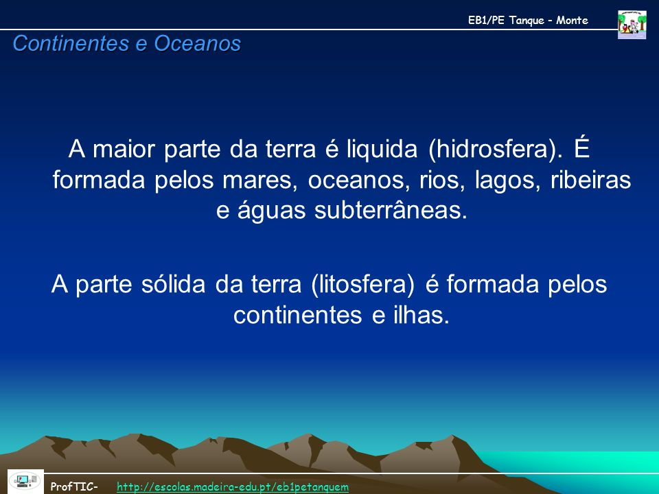 EB1/PE Tanque - Monte Continentes e Oceanos.