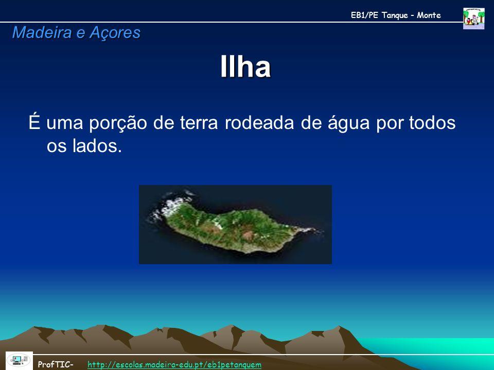 Ilha É uma porção de terra rodeada de água por todos os lados.