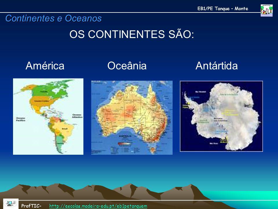 América Oceânia Antártida