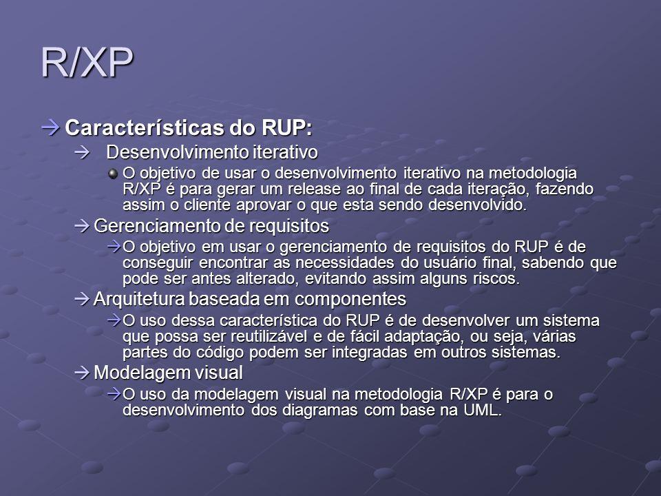 R/XP Características do RUP: Desenvolvimento iterativo