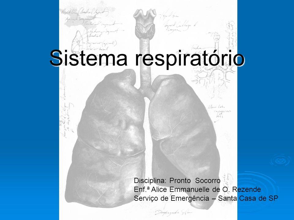 Sistema respiratório Disciplina: Pronto Socorro