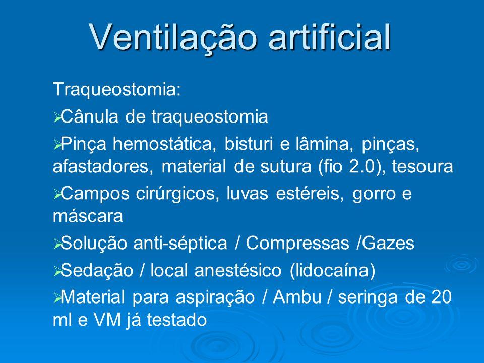 Ventilação artificial