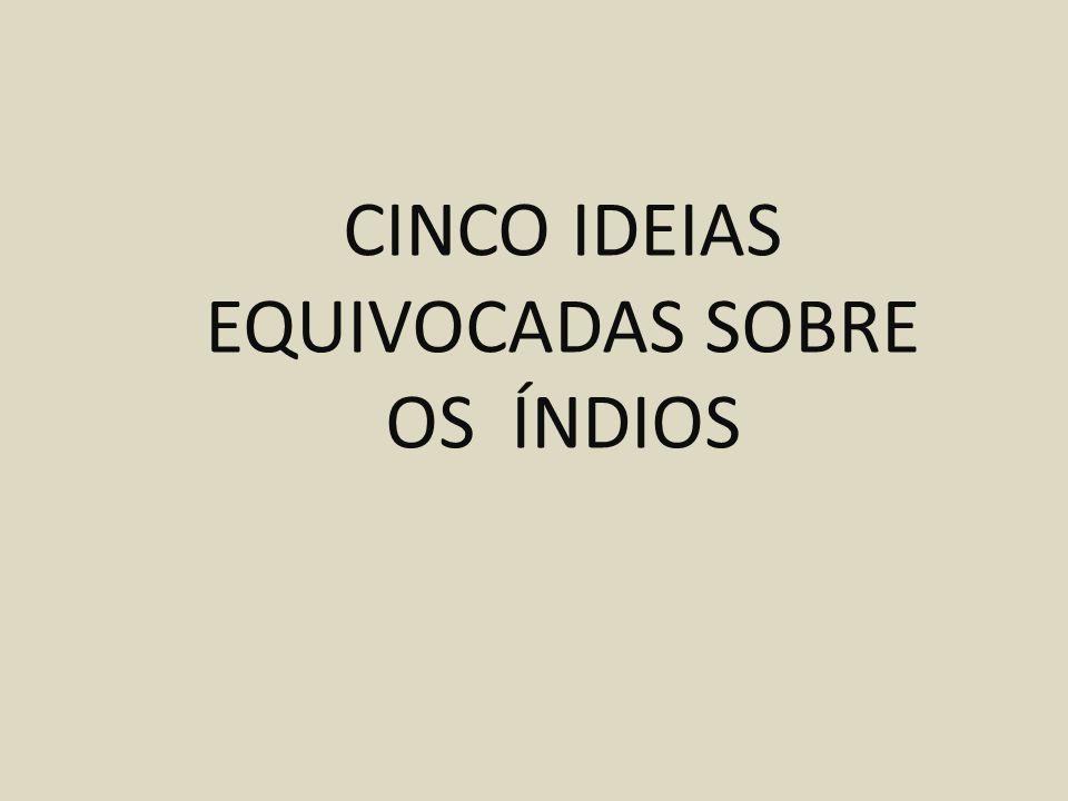 CINCO IDEIAS EQUIVOCADAS SOBRE OS ÍNDIOS