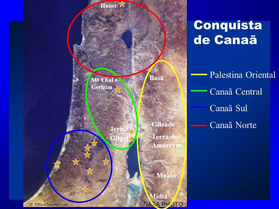 Conquista de Canaã Palestina Oriental Canaã Central Canaã Sul