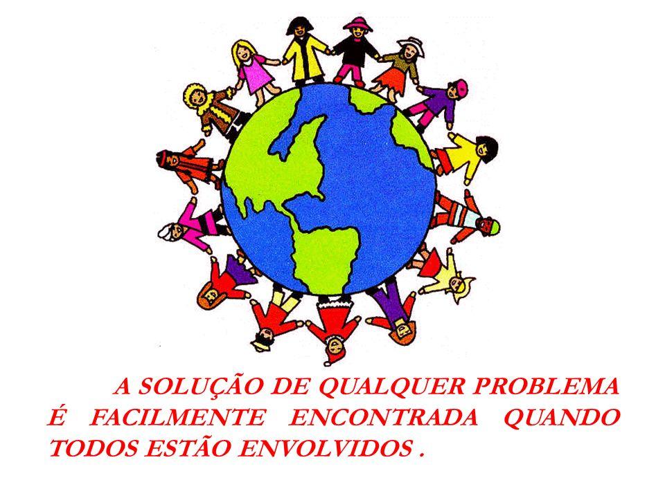 A SOLUÇÃO DE QUALQUER PROBLEMA É FACILMENTE ENCONTRADA QUANDO TODOS ESTÃO ENVOLVIDOS .