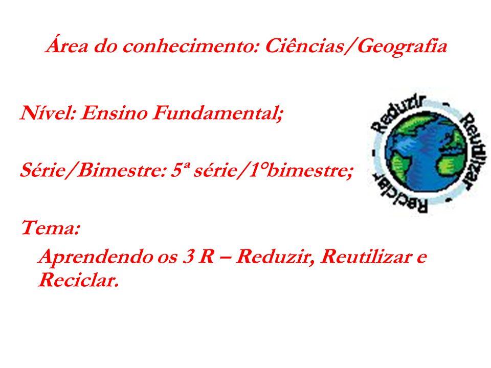 Área do conhecimento: Ciências/Geografia