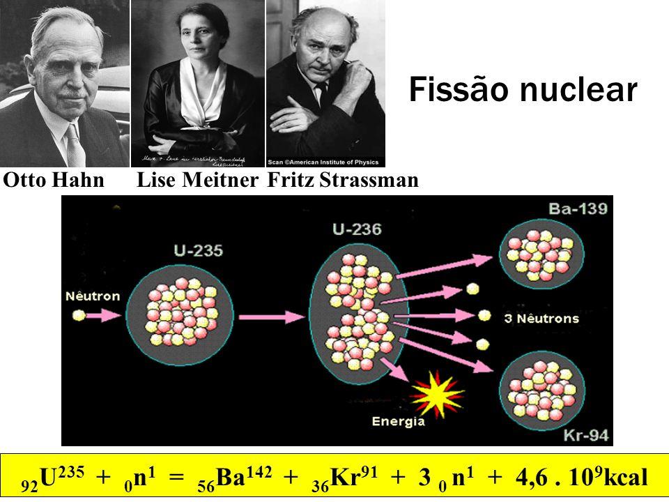 Fissão nuclearOtto Hahn.Lise Meitner. Fritz Strassman.