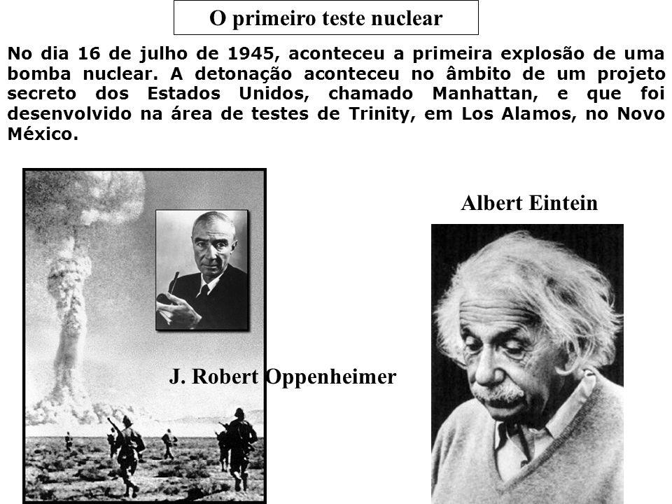 O primeiro teste nuclear