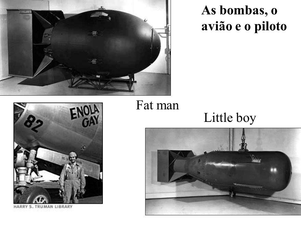 As bombas, o avião e o piloto