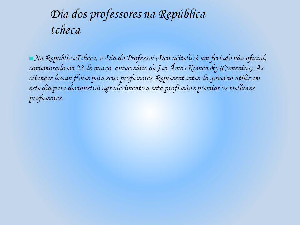 Dia dos professores na República tcheca