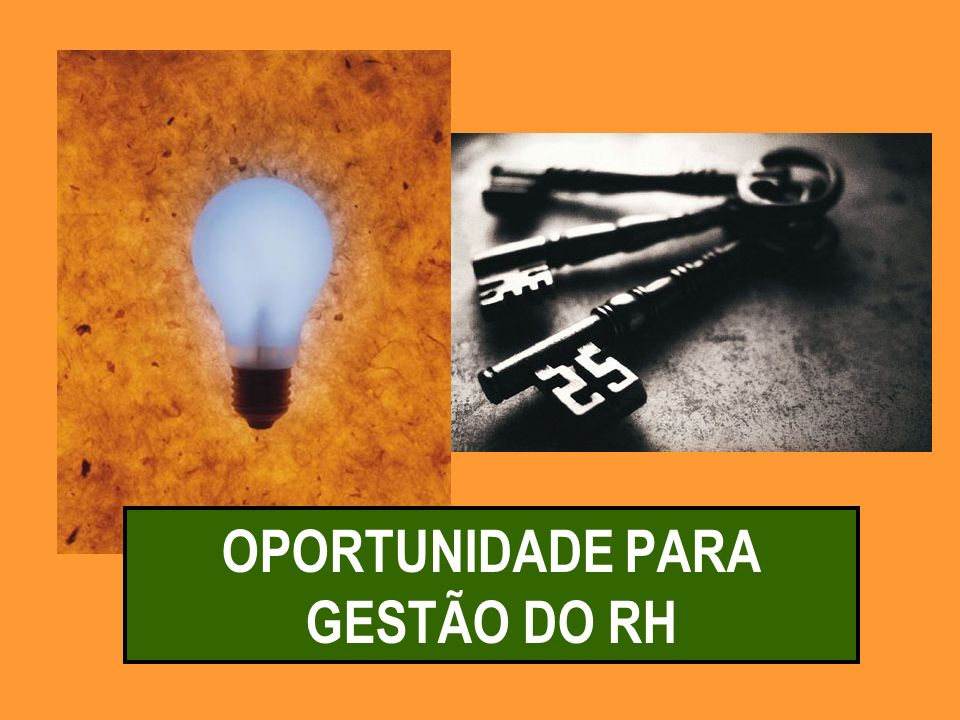 OPORTUNIDADE PARA GESTÃO DO RH