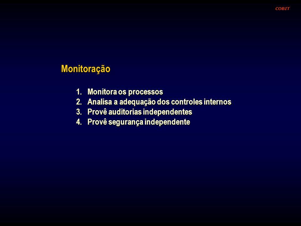 Monitoração Monitora os processos