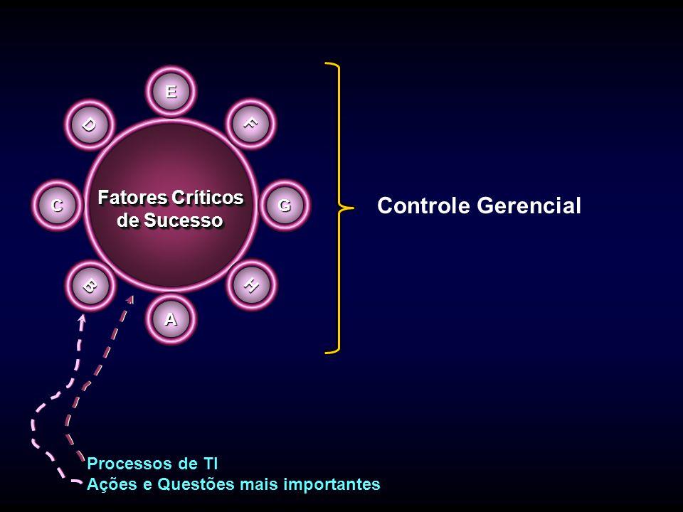 Controle Gerencial Fatores Críticos de Sucesso E D F C G B H A