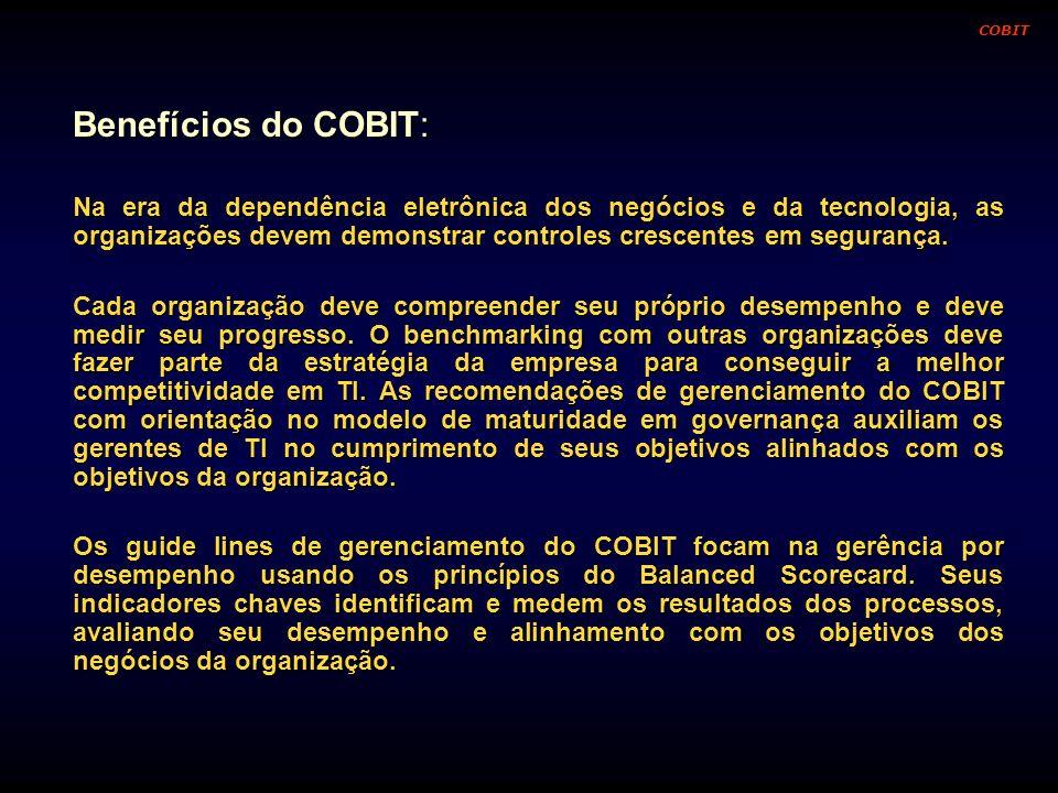 COBITBenefícios do COBIT: