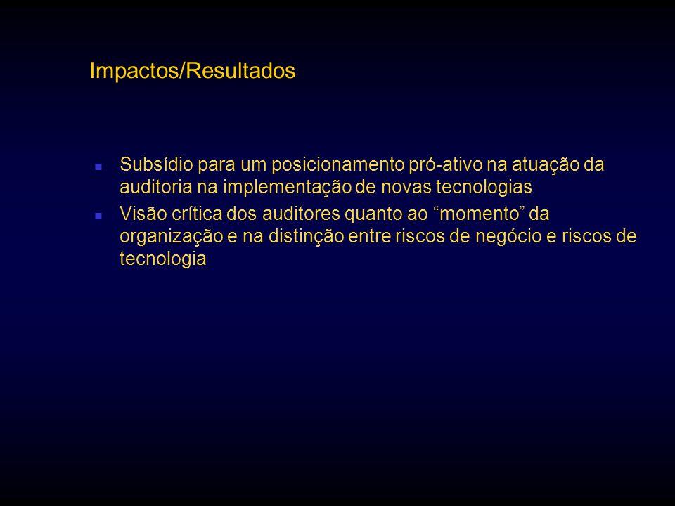 Impactos/ResultadosSubsídio para um posicionamento pró-ativo na atuação da auditoria na implementação de novas tecnologias.