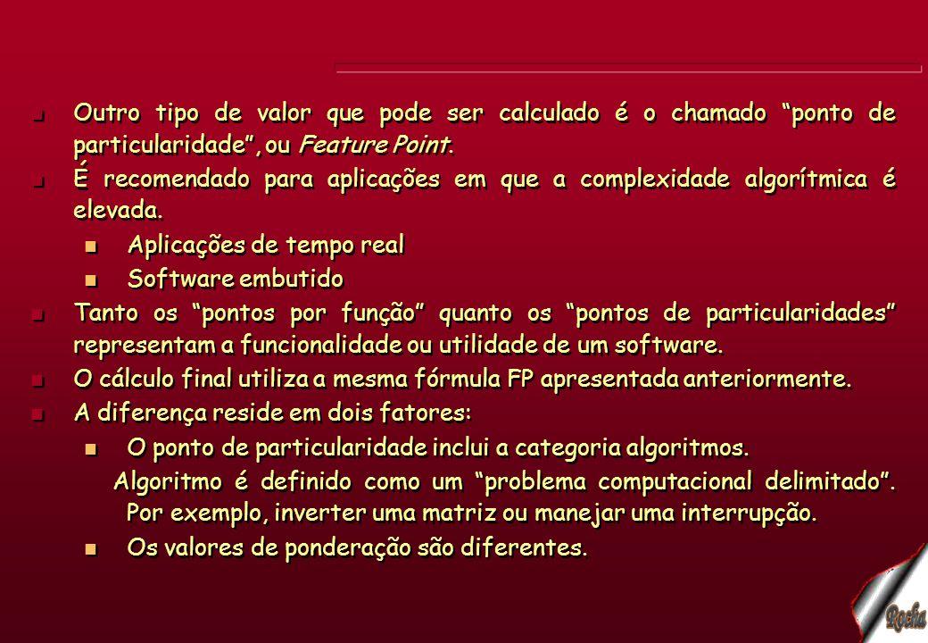 Outro tipo de valor que pode ser calculado é o chamado ponto de particularidade , ou Feature Point.