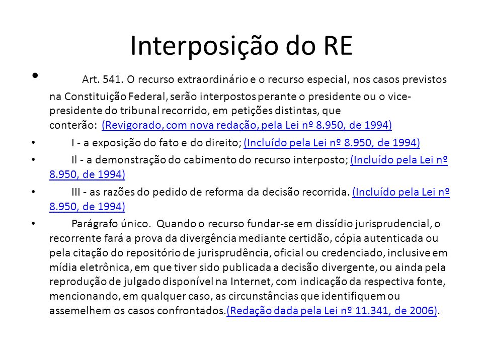 Interposição do RE