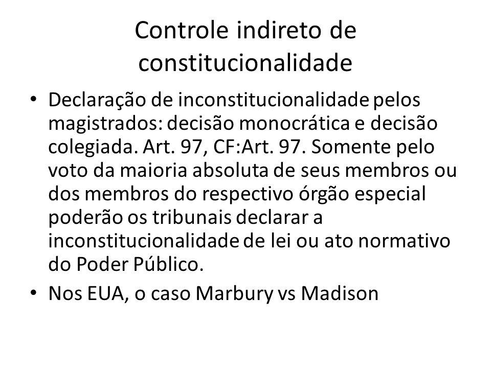 Controle indireto de constitucionalidade