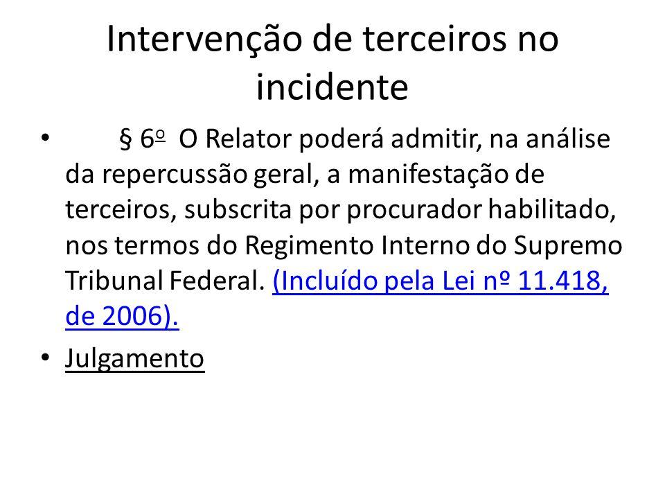 Intervenção de terceiros no incidente
