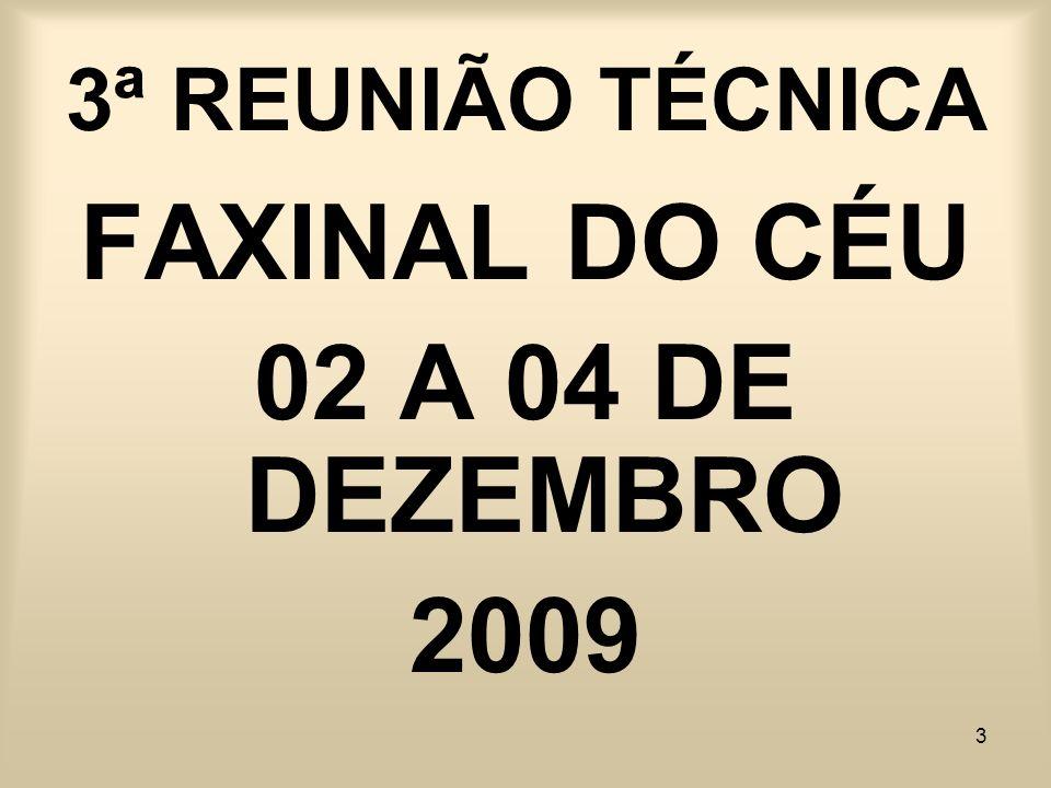 FAXINAL DO CÉU 02 A 04 DE DEZEMBRO 2009